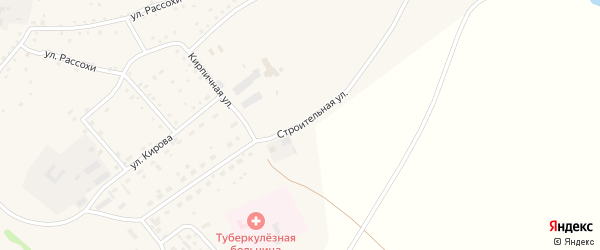 Строительная улица на карте села Шелаболихи с номерами домов