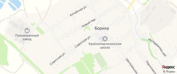 Советская улица на карте поселка Борихи с номерами домов