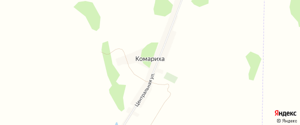 Карта поселка Комарихи в Алтайском крае с улицами и номерами домов