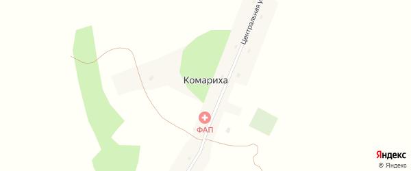Центральная улица на карте поселка Комарихи с номерами домов