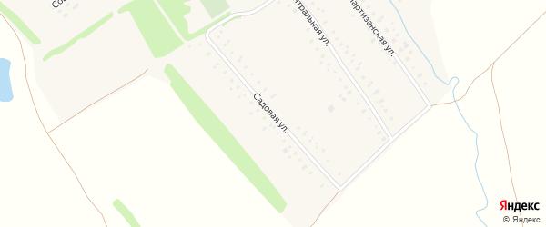 Садовая улица на карте поселка Борихи с номерами домов