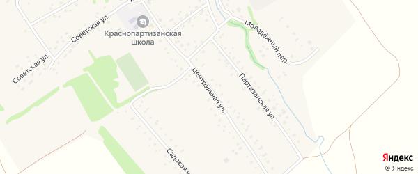 Центральная улица на карте поселка Борихи с номерами домов