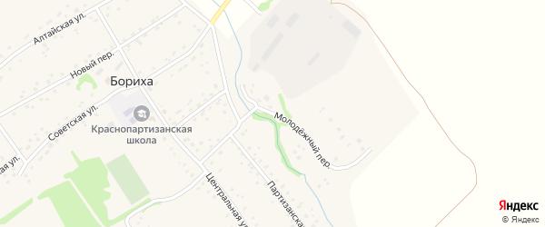 Молодежный переулок на карте поселка Борихи с номерами домов