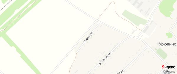 Новая улица на карте села Урюпино с номерами домов