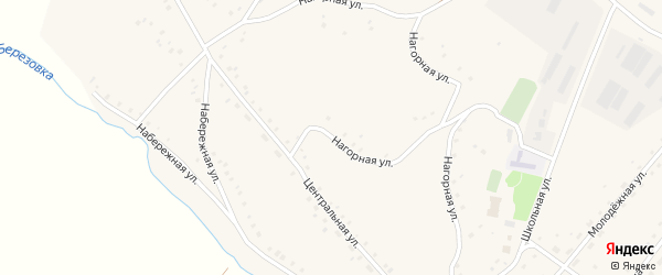 Нагорная улица на карте Карпова Второго села с номерами домов