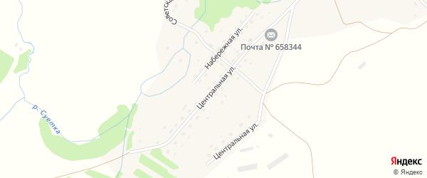 Центральная улица на карте села Суетки с номерами домов