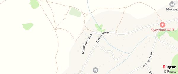 Молодежная улица на карте села Суетки с номерами домов