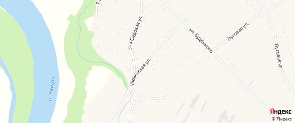 Чарышская улица на карте Карпова Второго села с номерами домов