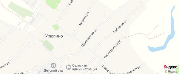 Центральная улица на карте села Урюпино с номерами домов