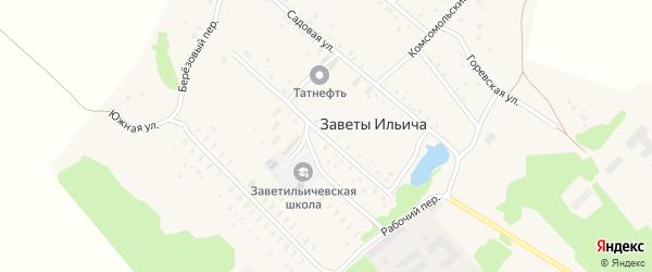Пролетарская улица на карте поселка Заветы Ильича с номерами домов