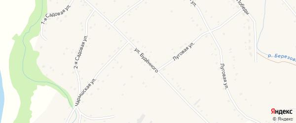 Улица Будённого на карте Карпова Второго села с номерами домов