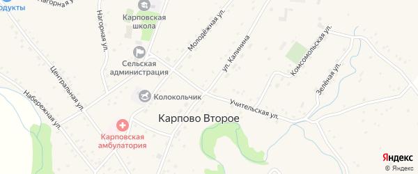 Улица Калинина на карте Карпова Второго села с номерами домов