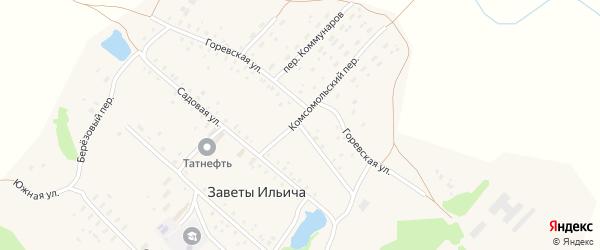 Горевская улица на карте поселка Заветы Ильича с номерами домов