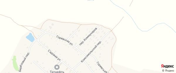 Переулок Коммунаров на карте поселка Заветы Ильича с номерами домов