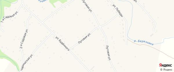 Луговая улица на карте Карпова Второго села с номерами домов