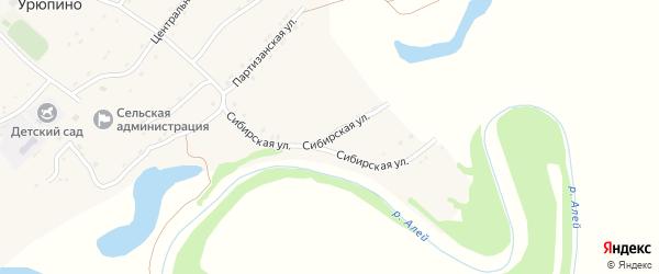 Сибирская улица на карте села Урюпино с номерами домов