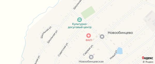 Советская улица на карте села Новообинцево с номерами домов