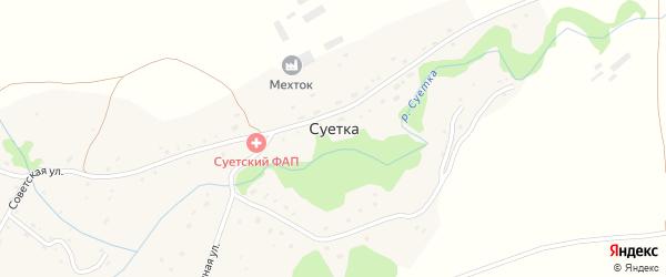 Набережная улица на карте села Суетки с номерами домов