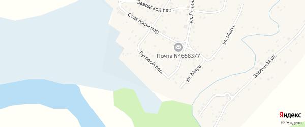 Луговой переулок на карте села Самсоново с номерами домов