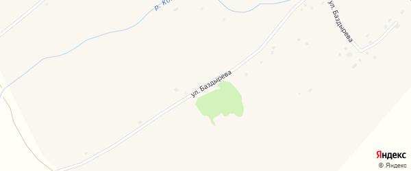 Улица Баздырева на карте села Комарихи с номерами домов