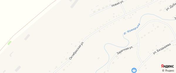 Октябрьская улица на карте села Комарихи с номерами домов