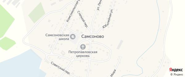 Заводской переулок на карте села Самсоново с номерами домов