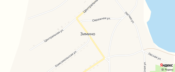 Молодежная улица на карте села Зимино с номерами домов