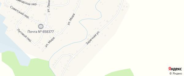 Заречная улица на карте села Самсоново с номерами домов