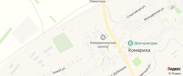 Спортивная улица на карте села Комарихи с номерами домов