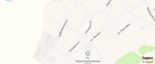 Западный переулок на карте села Краснощёково с номерами домов