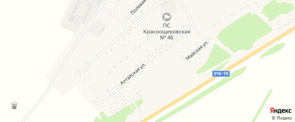 Алтайская улица на карте села Краснощёково с номерами домов