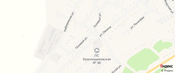 Полевая улица на карте села Краснощёково с номерами домов