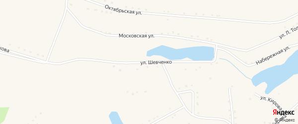 Улица Шевченко на карте села Парфеново с номерами домов