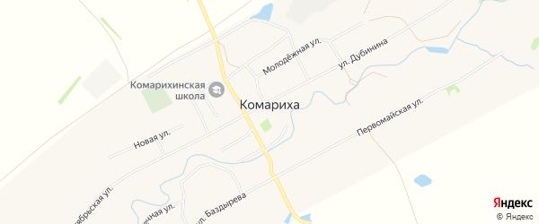 Карта села Комарихи в Алтайском крае с улицами и номерами домов