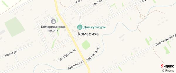 Школьная улица на карте села Комарихи с номерами домов