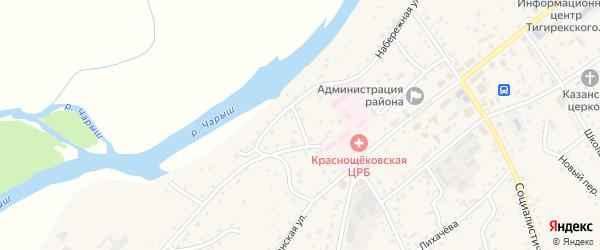 Больничный переулок на карте села Краснощёково с номерами домов
