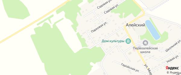 Зеленый переулок на карте Алейского поселка с номерами домов
