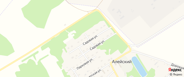Садовая улица на карте Алейского поселка с номерами домов