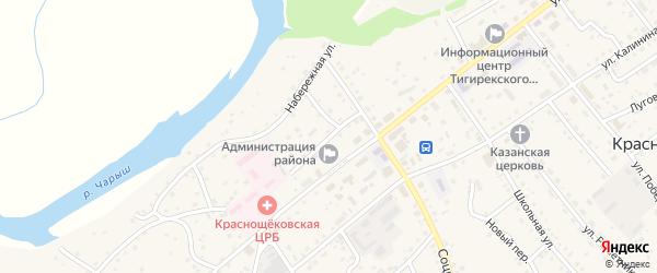 Улица Кирова на карте села Краснощёково с номерами домов