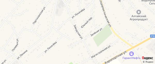 Заводская улица на карте села Краснощёково с номерами домов