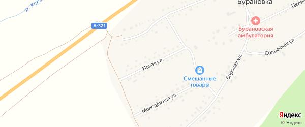 Новая улица на карте поселка Бурановки с номерами домов