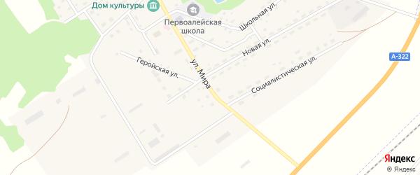 Улица Мира на карте Алейского поселка с номерами домов