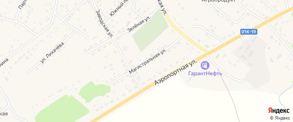 Магистральная улица на карте села Краснощёково с номерами домов