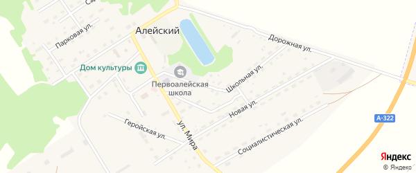 Школьная улица на карте Алейского поселка с номерами домов