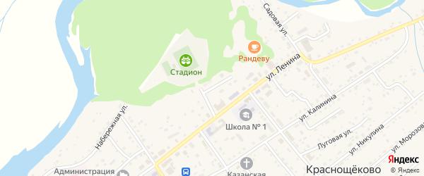 Театральный переулок на карте села Краснощёково с номерами домов