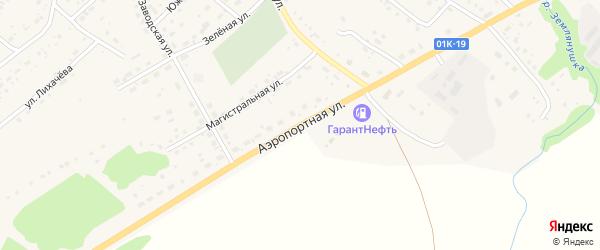 Аэропортная улица на карте села Краснощёково с номерами домов