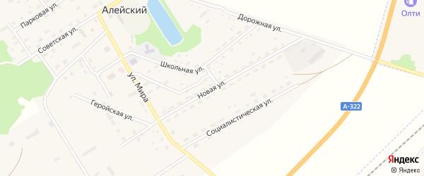 Новая улица на карте Алейского поселка с номерами домов