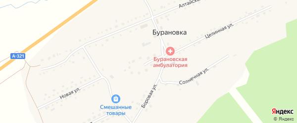 Школьная улица на карте поселка Бурановки с номерами домов