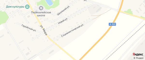 Социалистическая улица на карте Алейского поселка с номерами домов