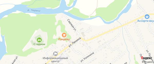 Садовая улица на карте села Краснощёково с номерами домов